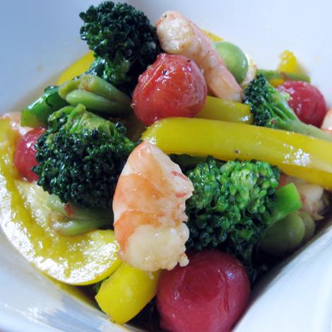 彩り野菜のはちみつ香味ソース